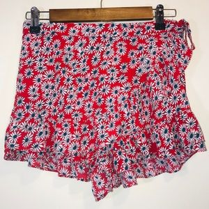 Zara Trafaluc Floral Wrap Ruffle Shorts - #1241